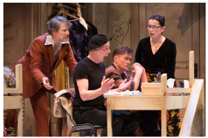 Kevin Bundy, Oliver Dennis, Geordie Johnson, and Diane D'Aquila in the Soulpepper production of Jitters